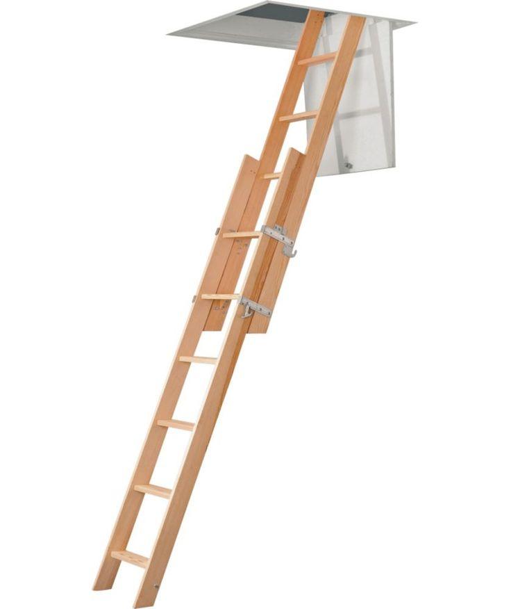 buy abru domestic 2 section sliding timber loft ladder at argoscouk