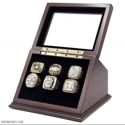 NFL 1974 1975 1978 1979 2005 2008 Pittsburgh Steelers Super Bowl Championship Replica Fan Rings with Wooden Display Case, including NFL 1974 Super Bowl IX,NFL 1975 Super Bowl X, NFL 1978 Super Bowl XIII, NFL 1979 Super Bowl XIV,NFL 2005 Super Bowl XI, NFL 2008 Super Bowl XLIII