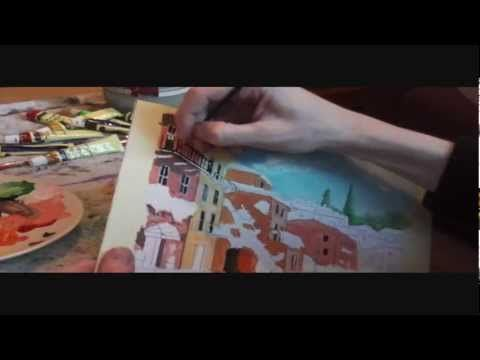 ▶ Paris - Painting tutorial PART 1 - YouTube
