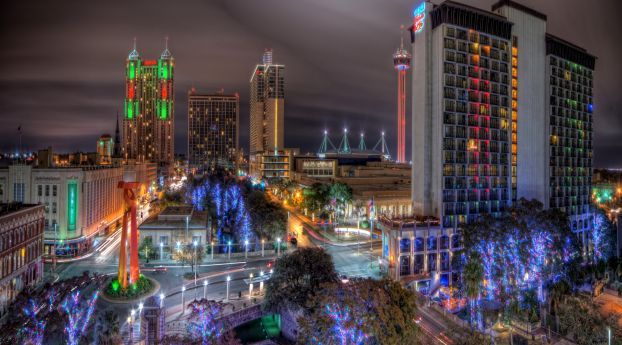 San Antonio Texas Night Wallpaper Hd City 4k Wallpapers Images Photos And Background Texas Travel Guide City Wallpaper San Antonio Texas