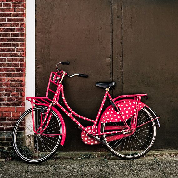 Let's go ride a bike ... specifically, a pink polka-dotted bike!