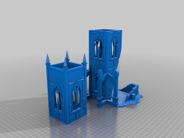 Warhammer 40k Terrain Dice Tower 3 0 By Mccraryp Thingiverse Warhammer 40k Dice Tower 40k Terrain