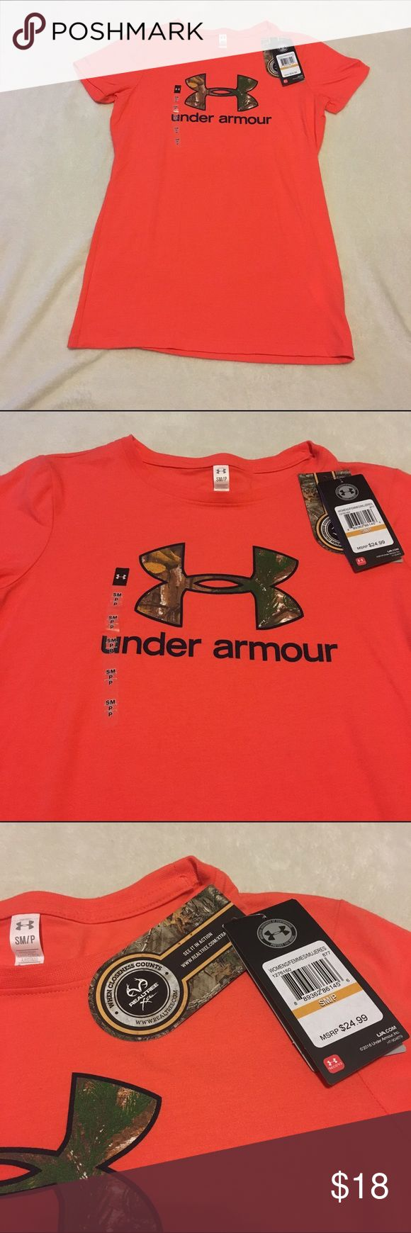 Under armour hunting camo tee shirt Brand new with tags! Originally $25. Size small. Feel free to make an offer! Under Armour Tops Tees - Short Sleeve