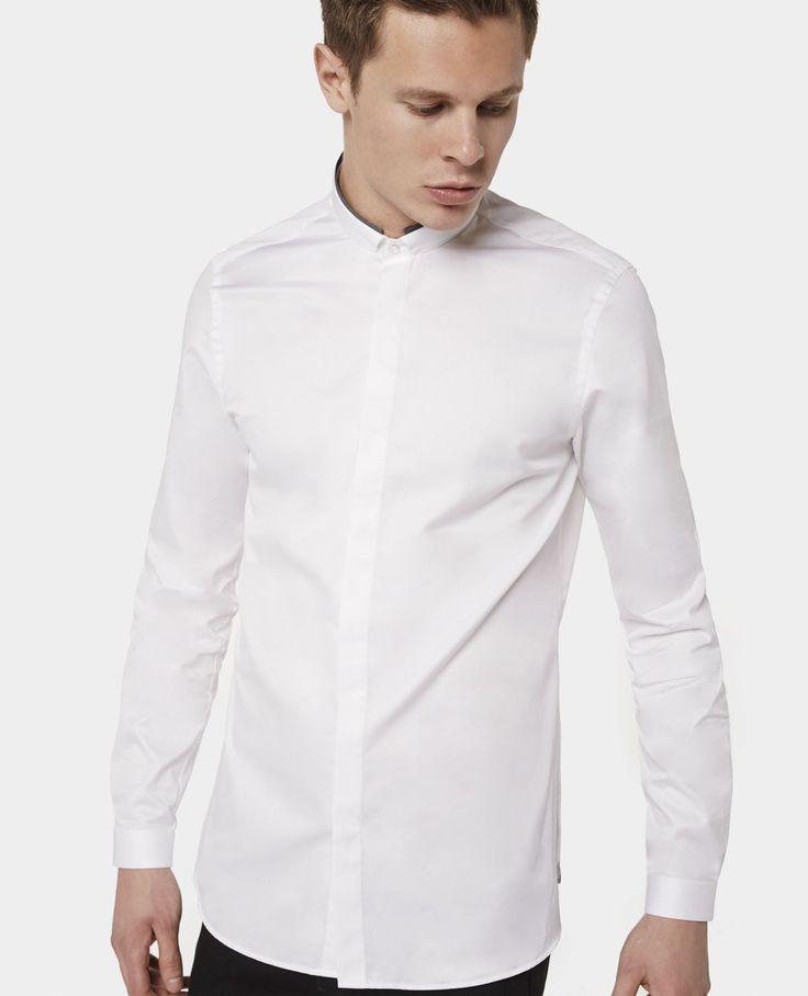 The Kooples - Hemd aus Baumwollpopeline mit kontrastierender Popeline - 135€