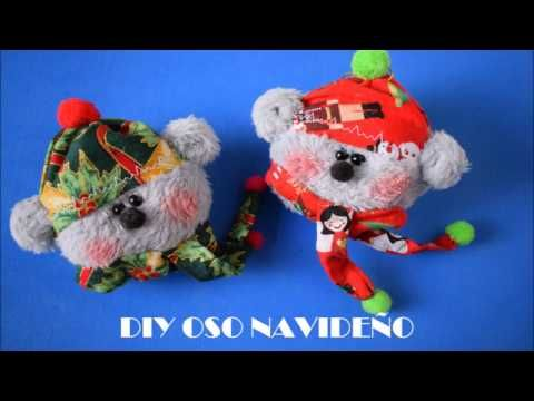 Tutorial oso navideño - YouTube