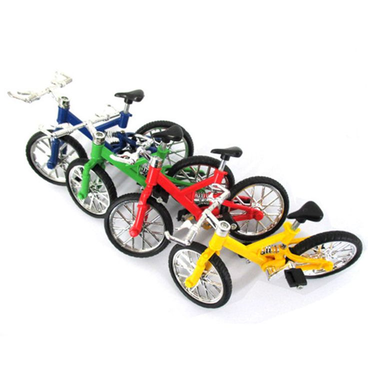 1Pc Professional Flick Trix Finger Bmx Mini Finger Bikes Model Alloy Stents Finger Bicycle Children Toys Random Color Delivery