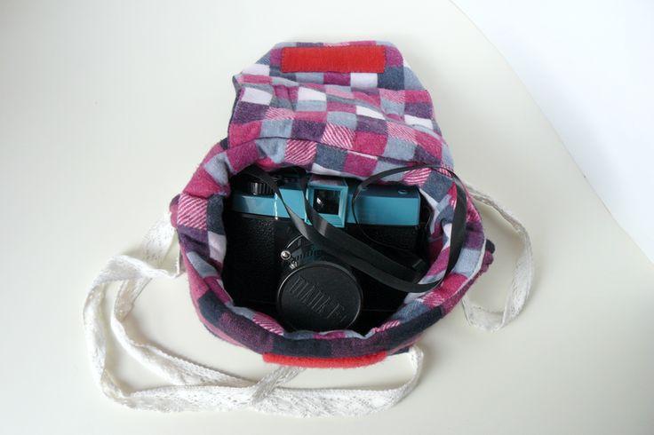 mačet: tvořivý blog - brašna na fotoaparát (DIY camera bag - Diana F+)
