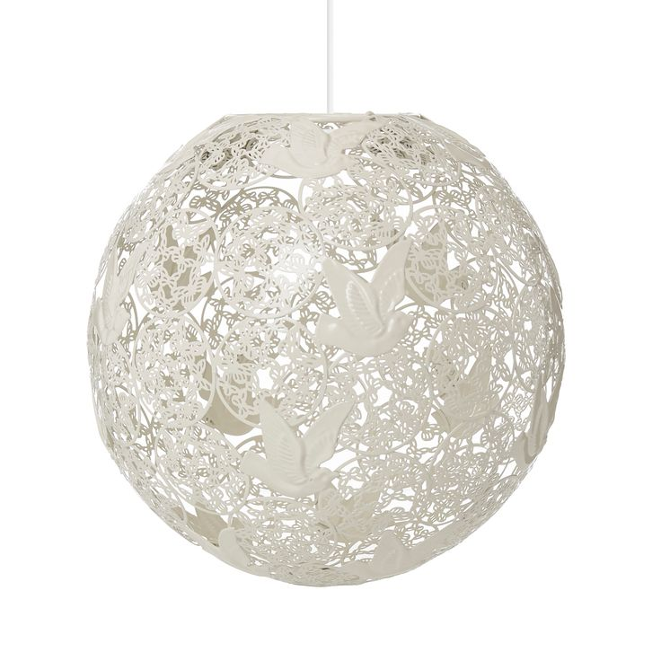 George Home Cream Bird Ball Pendant Ceiling Light | Lighting | ASDA direct