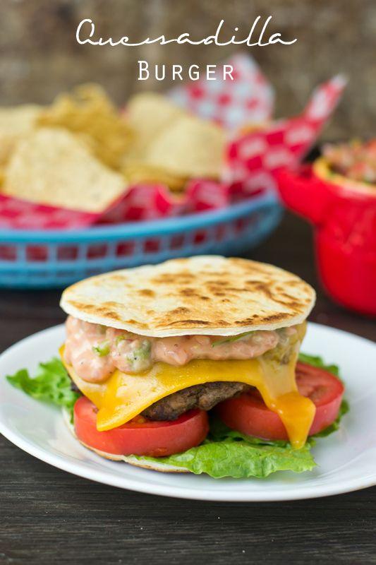 Quesadilla Burger on MyRecipeMagic.com. A lighter version of my favorite Applebee's burger!