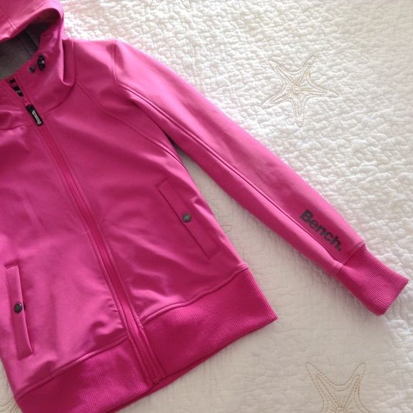 SALE! Bench hoodie Brand new, never worn. A hot pink hoodie that you can add to your collection. Bench Jackets & Coats