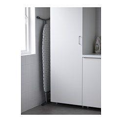 IKEA - DÄNKA, Asse da stiro, Regolazione continua dell'altezza.Il materiale lascia passare il vapore del ferro da stiro, evitando la formazione di umidità.Molto stabile e resistente grazie alla struttura e alla base in acciaio.Il supporto ha cuscinetti in silicone resistenti al calore, per evitare di graffiare la superficie del ferro.