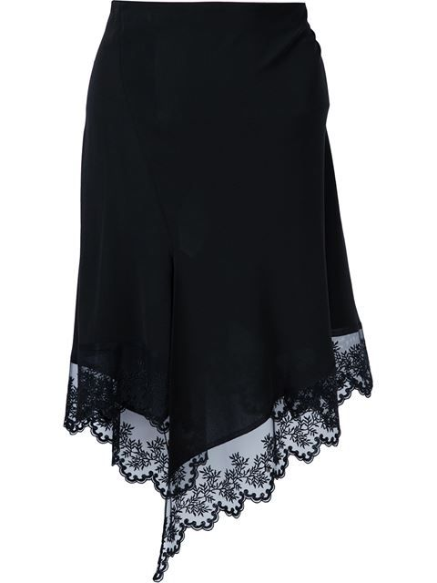 Givenchy floral lace hem skirt