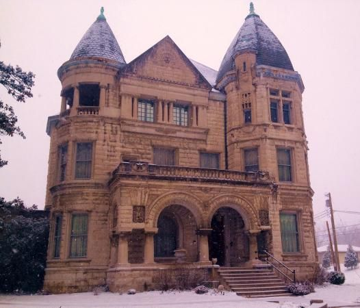 The famous - and haunted - Conrad-Caldwell House on a wintry day