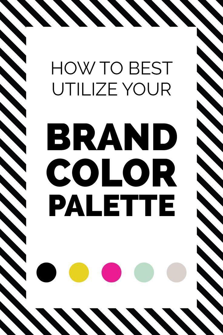 How to best utilize your #brand color palette in your website. #branding