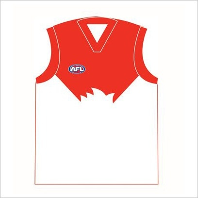 AFL Sydney Swans Jersey Cushion C A Australia