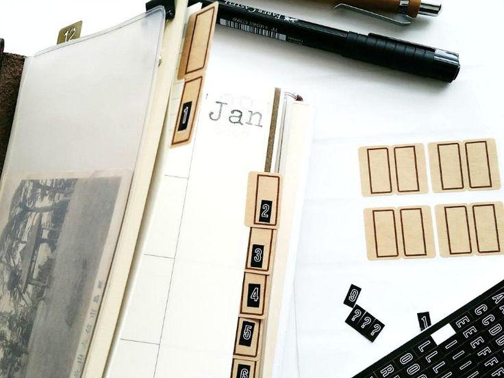 DIY Midori Notebook Tabs / Seaweed Kisses