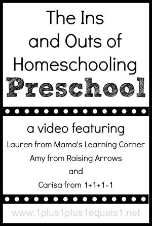 The Ins and Outs of Homeschooling #Preschool a video featuring @{1plus1plus1} Carisa @Amy Lyons Roberts {Raising Arrows} and @Lauren Davison HillMama Learning, Homeschool Ideas, Homeschool Preschool, Learning Corner, Homeschooling Preschool Jpg, Rai Arrows, 30 Minute, Month Ago, Living Videos