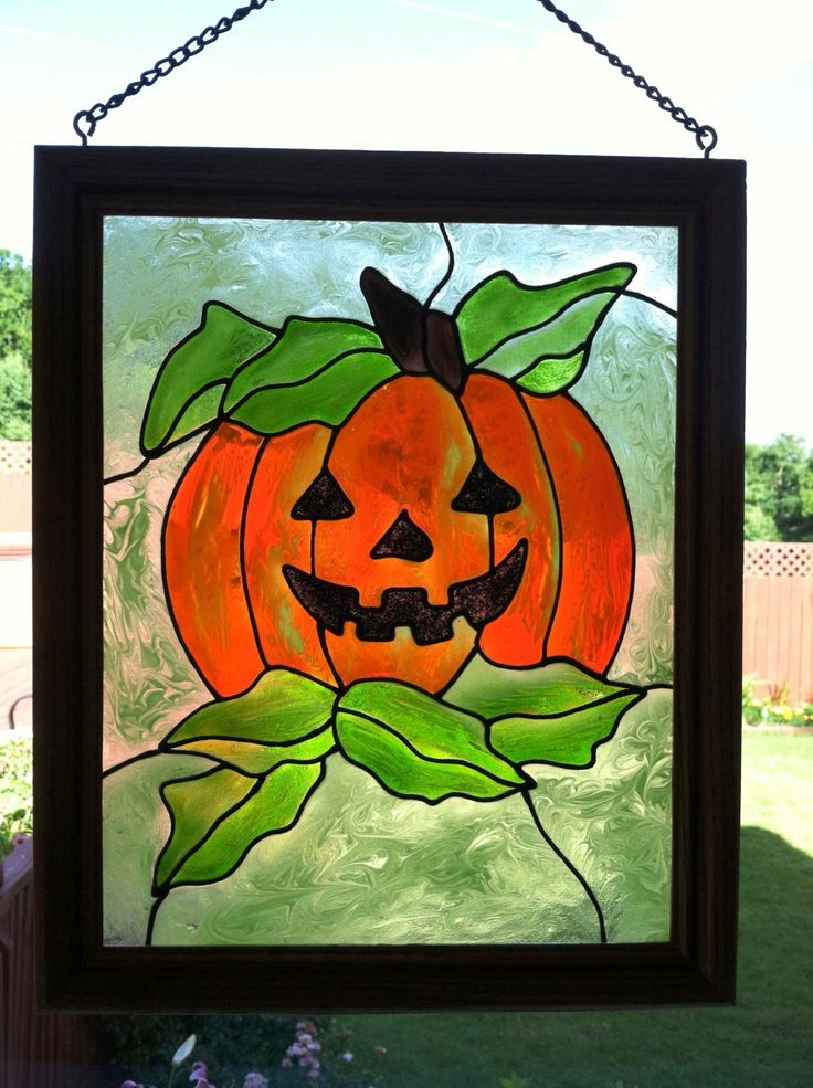 64 best images about stain glass halloween on pinterest for Halloween window designs