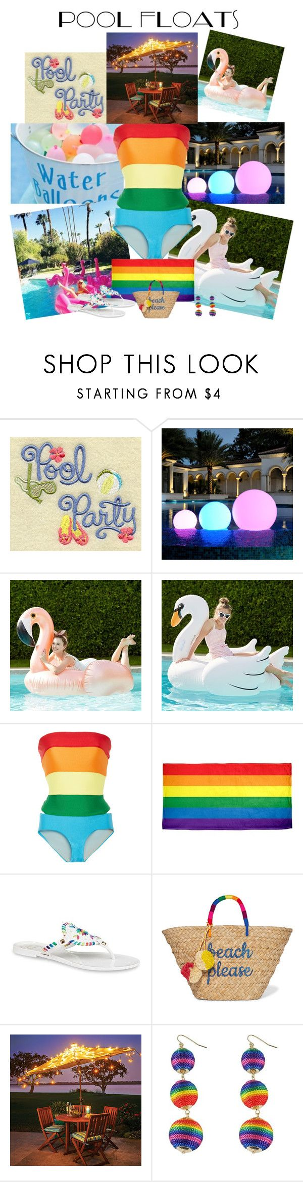 """""""Pool Party"""" by horcal ❤ liked on Polyvore featuring PBteen, Agatha Ruiz de la Prada, Jack Rogers, Kayu, Improvements and poolparty"""