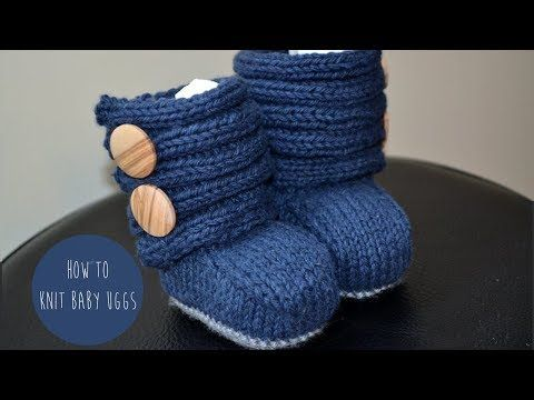 How to Knit UGG Booties for a Baby Girl | Knitting Women