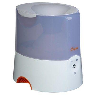 Crane 2-in-1 Warm Mist Humidifier & Steam Inhaler 0.5 Gallon - White
