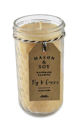 Tall Mason Quilted Jar (340 mls) Scented Soy Candle – Mason & Soy Handmade Candles