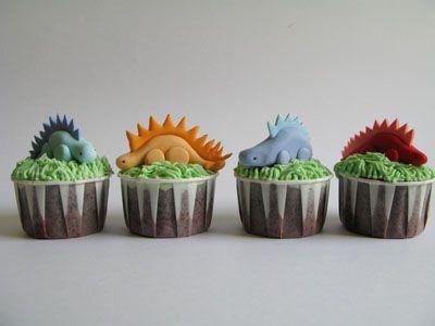 Dinosaurus cupcakes.