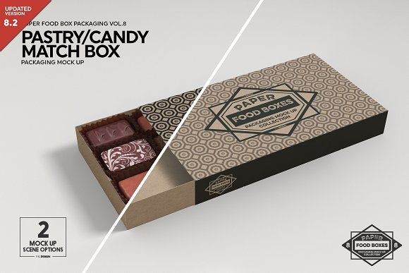 Download Match Box Style Packaging Mockup Packaging Mockup Fashion Box Food Box Packaging