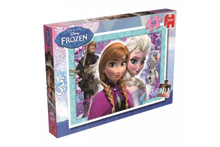 Disney Frozen Puzzel 50 stukjes van Jumbo  Hou je een beetje van puzzels maken? En is Frozen jouw favoriete film? Dan is deze Disney Frozen Puzzel echt het perfecte cadeau om te krijgen!  #disney #jumbo #frozen #kindercadeau #puzzel