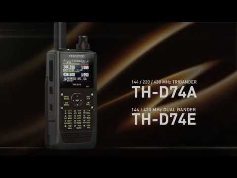 TH D74E Kenwood Ham Radio VHF:UHF Dual Band Handheld with GPS