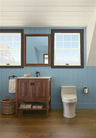 Look At The Paint Color Combination I Created With Benjamin Moore Via Wall Polaris Blue 1649 Trim Deep Caviar 2130 20 Ceiling Wind S