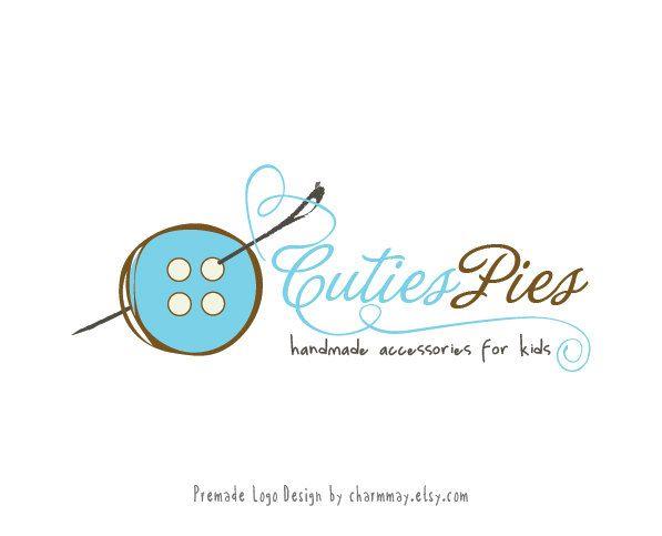 Premade logo - Handmade boutique logo - Custom business logo design - Kid Boutique Logo. $15.00, via Etsy.