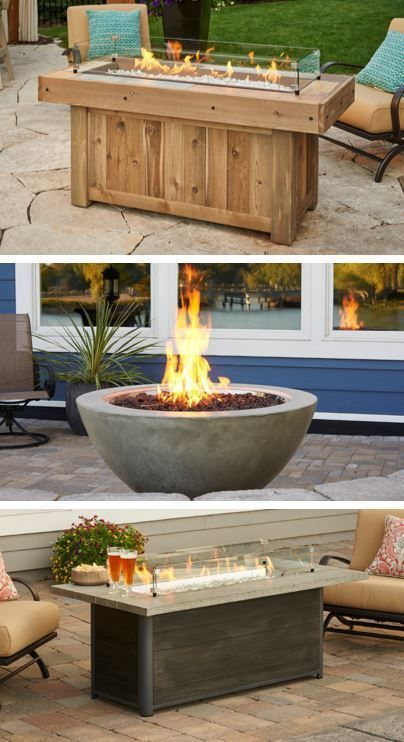 upgrade your outdoor space with a gas fire pit table the outdoor rh pinterest com