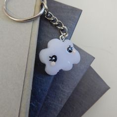Porte-clés imitation nuage