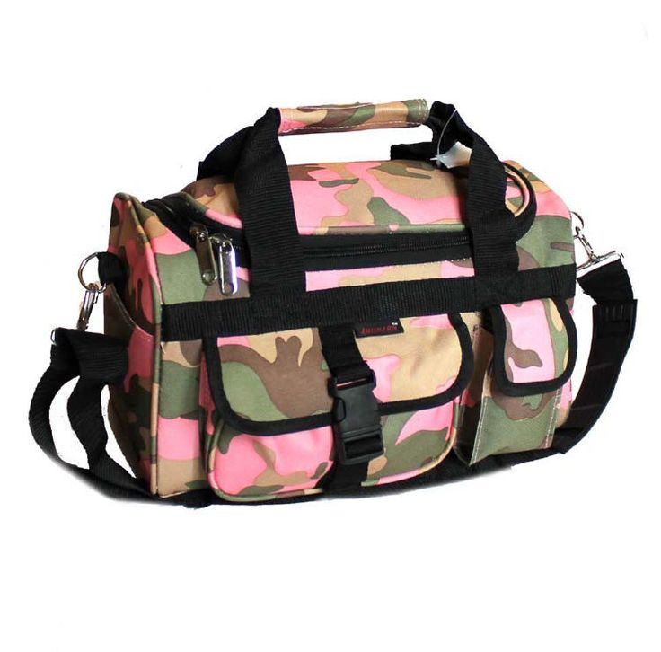 "13"" Pink Camo Light Duty Duffle Bag Lady's Carry On Luggage Hand Range #JohnsonExplorer #ShoulderBag"