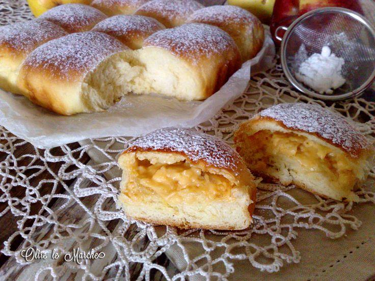Danubio dolce con mele e crema pasticcera