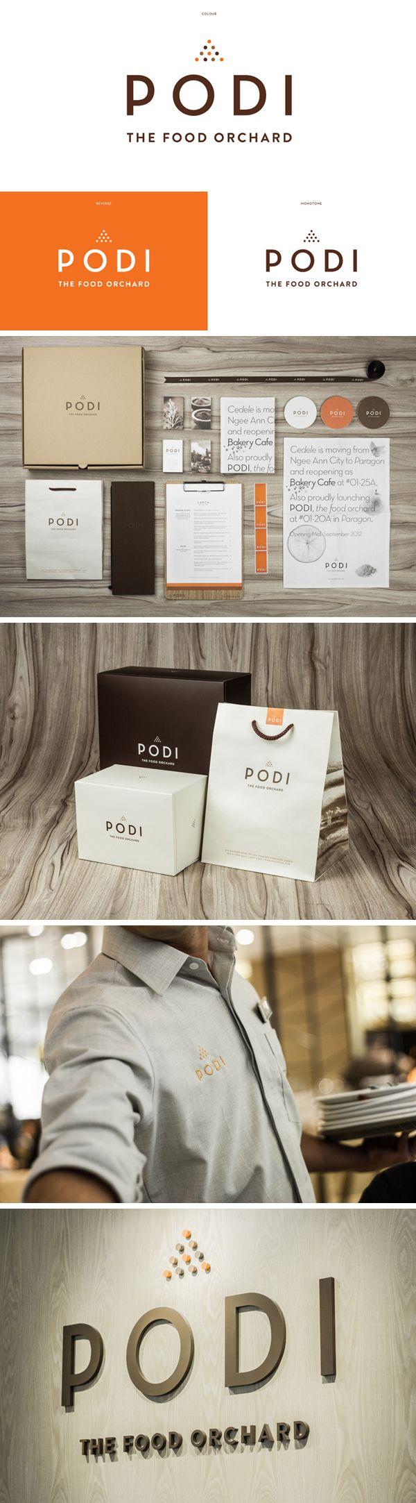 identity / Podi restaurant | #stationary #corporate #design #corporatedesign #identity #branding #marketing < repinned by www.BlickeDeeler.de | Take a look at www.LogoGestaltung-Hamburg.de