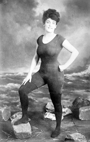 "Australian swimmer Annette Kellerman was arrested in 1907 for wearing a sleeveless swimming outfit, seen to be so revealing that it was obscene.   Article ""Burkini ban & what it really means to criminalize clothing"""