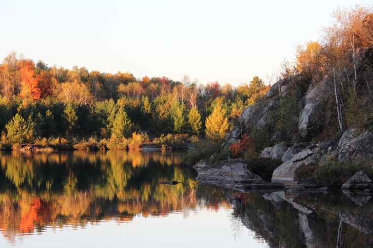 Lake Laurentian Conservation Area early in the morning.   Summer of 2012