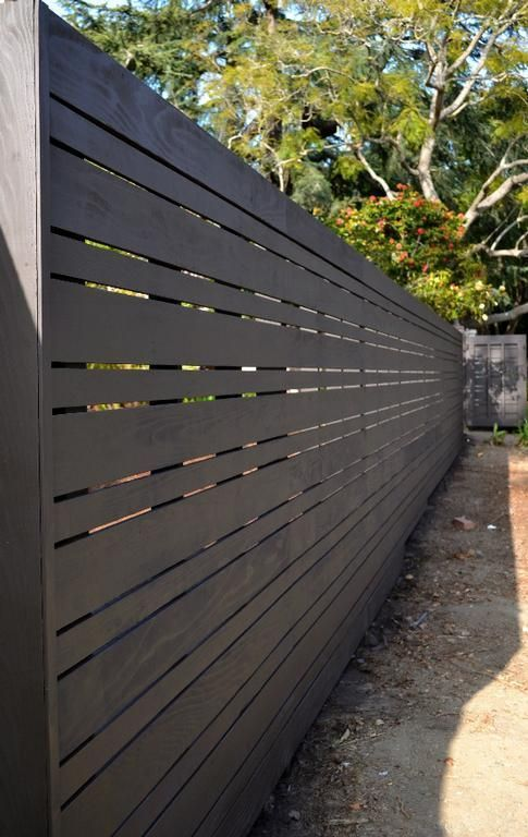 Horizontal Fence Santa Monica Canyon by Harwell Fencing and Gates, LA