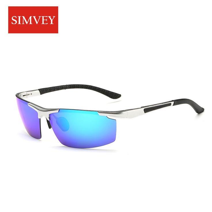Simvey 2017 New Mens Aluminum Alloy Polarized Fishing Sun Glasses Brand Designer Driving Golf Sunglasses High Quality #Affiliate