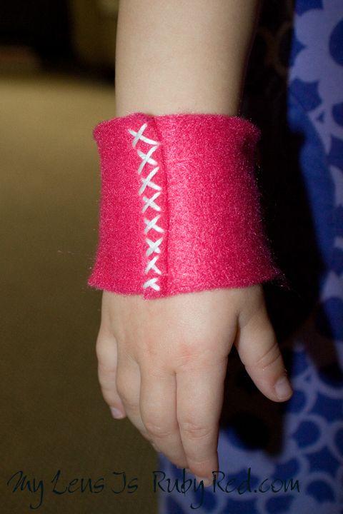 Bat Girl/superhero Wrist cuffs
