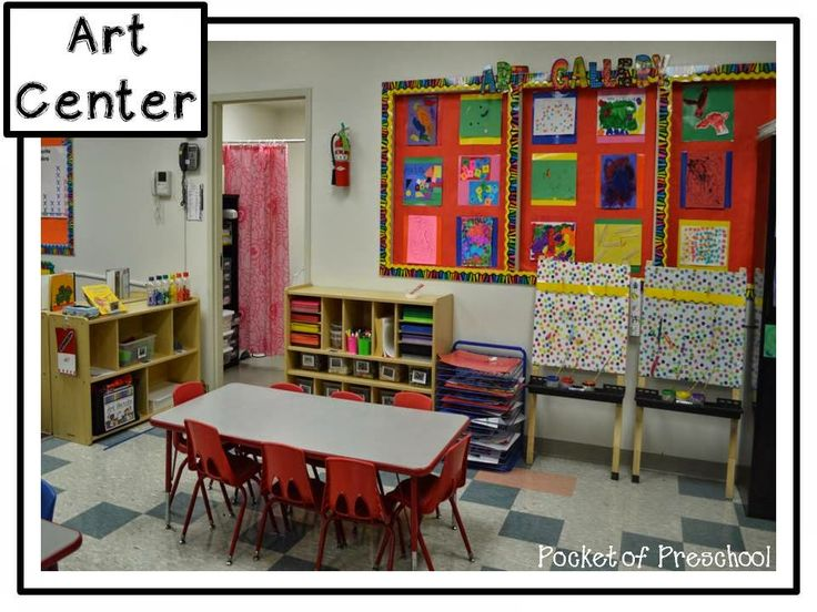 Classroom Design And Organization : Classroom reveal the art center in a preschool