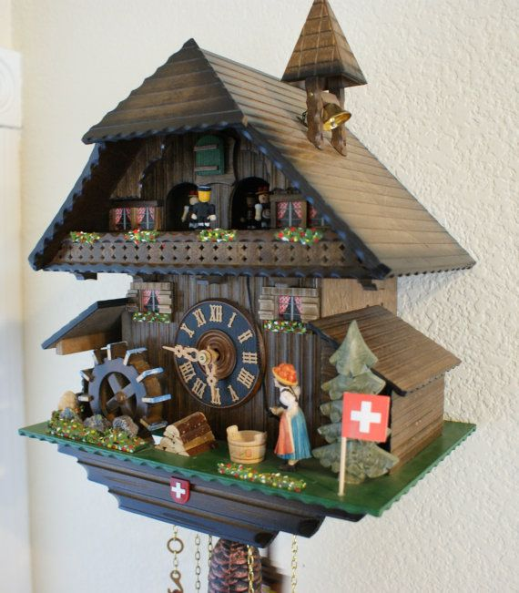 Cuckoo Clock Musical Chalet  Swiss Made Mechnical by TheMontiShop, $550.00