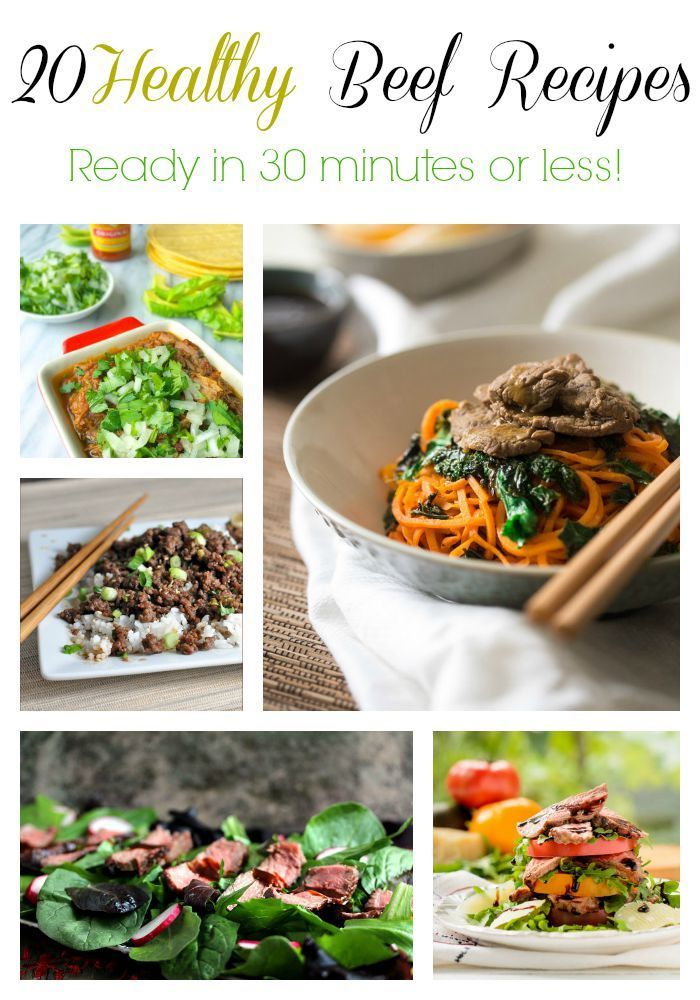 20 beef recipes in 30 minutes or less! #spon