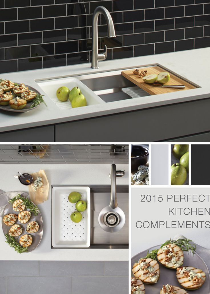 Another of our perfect complements -- the Sensate Touchless faucet and Prolific sink. They go together like roasted pears and blue cheese -- perfectly!