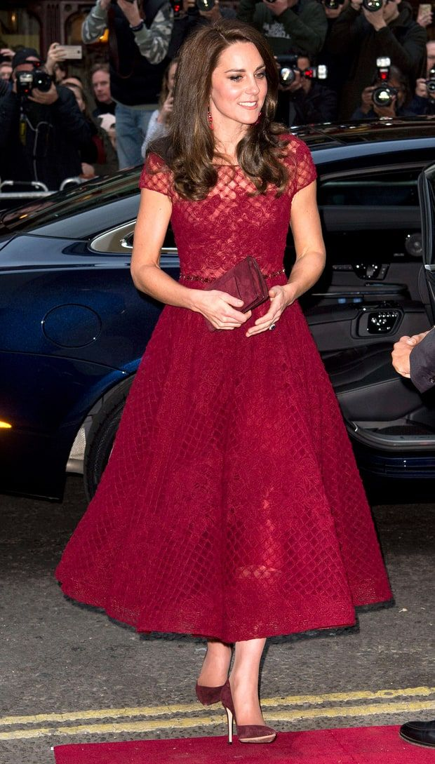 Duchess Kate in Marchesa Notte