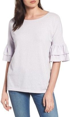 Shop Now - > https://api.shopstyle.com/action/apiVisitRetailer?id=660402561&pid=uid6996-25233114-59 Petite Women's Caslon Tiered Bell Sleeve Tee ...