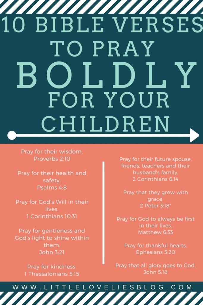 10 Bold Verses to Pray for Your Children | Children, Blog ...