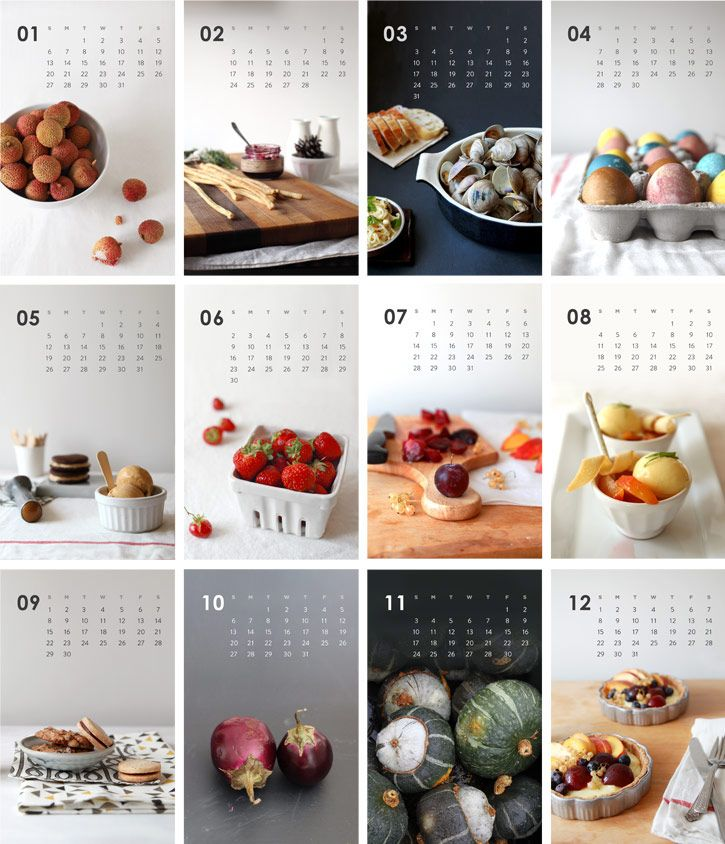 Gorgeous! ~ The 2013 Year in Food Calendar